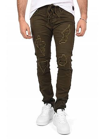 10802d2a8f7 Project X Paris Jeans Slim Ceinture à Lacet Doublure Biker Homme ...