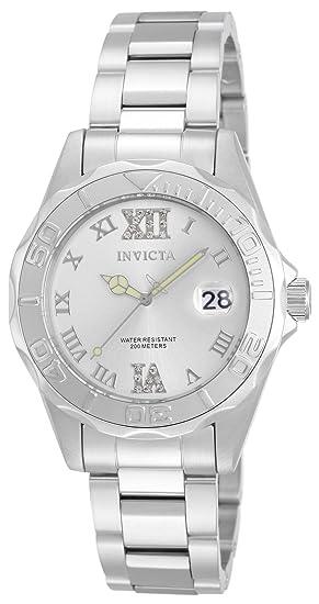 Invicta 12851 Pro Diver Reloj para Mujer acero inoxidable Cuarzo Esfera  plata  Amazon.es  Relojes d5123afaf6fd