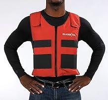 Glacier Tek Sports Cool Vest with Set of 8 Nontoxic Cooling Packs Red