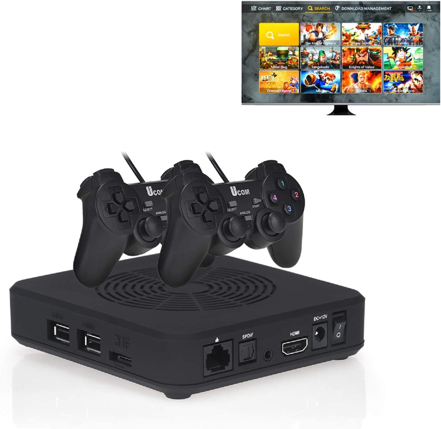 TAPDRA 3D Pandora SAGA WiFi TV Game Box 3000 in 1 Multi Games Arcade  Console with 2 USB Gamepad, Support 10000+ Games Download