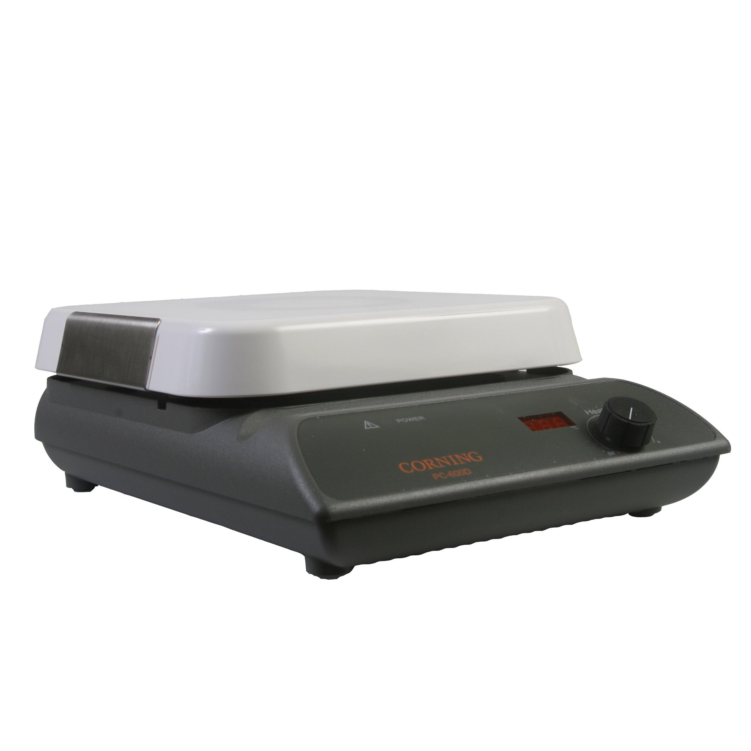 Corning 6795-600D PC-600D Hot Plate, Digital Display, 10'' x 10'' Pyroceram Top, 40.1 x 26.9 x 26.9cm (L x W x H), 5 to 550 Degrees C, 120V/60Hz by Corning