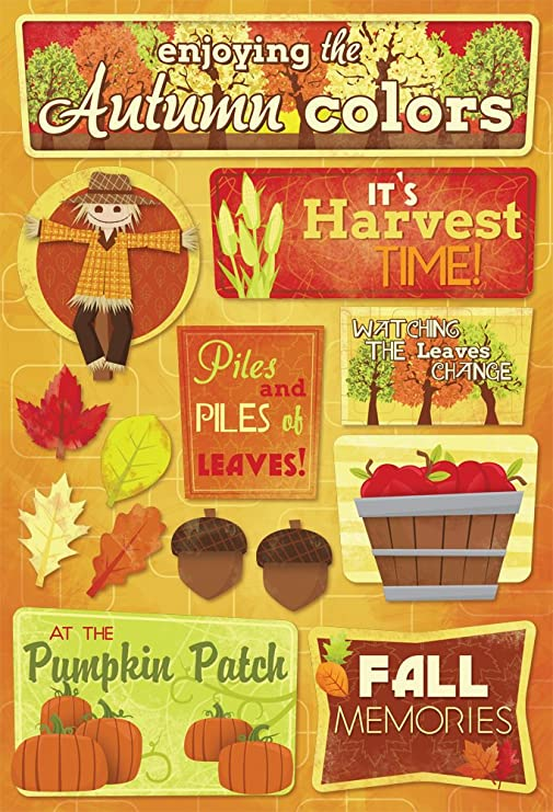 HARVEST TIME Fall Scrapbook Stickers