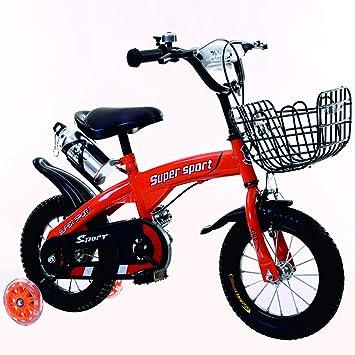 liusa Freestyle Bicicleta Bicicleta para niños 14 Pulgadas/báscula Bicicleta con Rueda de Entrenamiento de