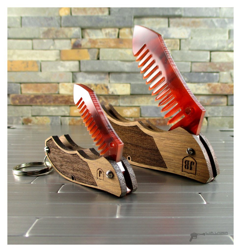 Beard and Mustache Folding Comb set, Tactical Style,
