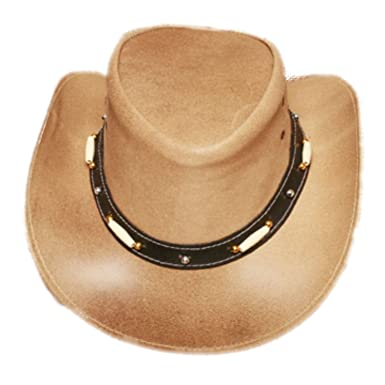 c2338748 Amazon.com: All Leather hat with Replica Bone Accents Croc Dundee Down Under  Astralain Style Hat: Clothing