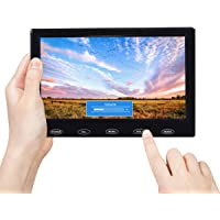 TOGUARD 7 Inch Small Portable Security Monitor USB Powered HD 1024x600 TFT LCD Display Screen with AV VGA HDMI Input, Touch Keys, Built-in Speakers, Remote Control for Raspberry Pi PC Security Camera