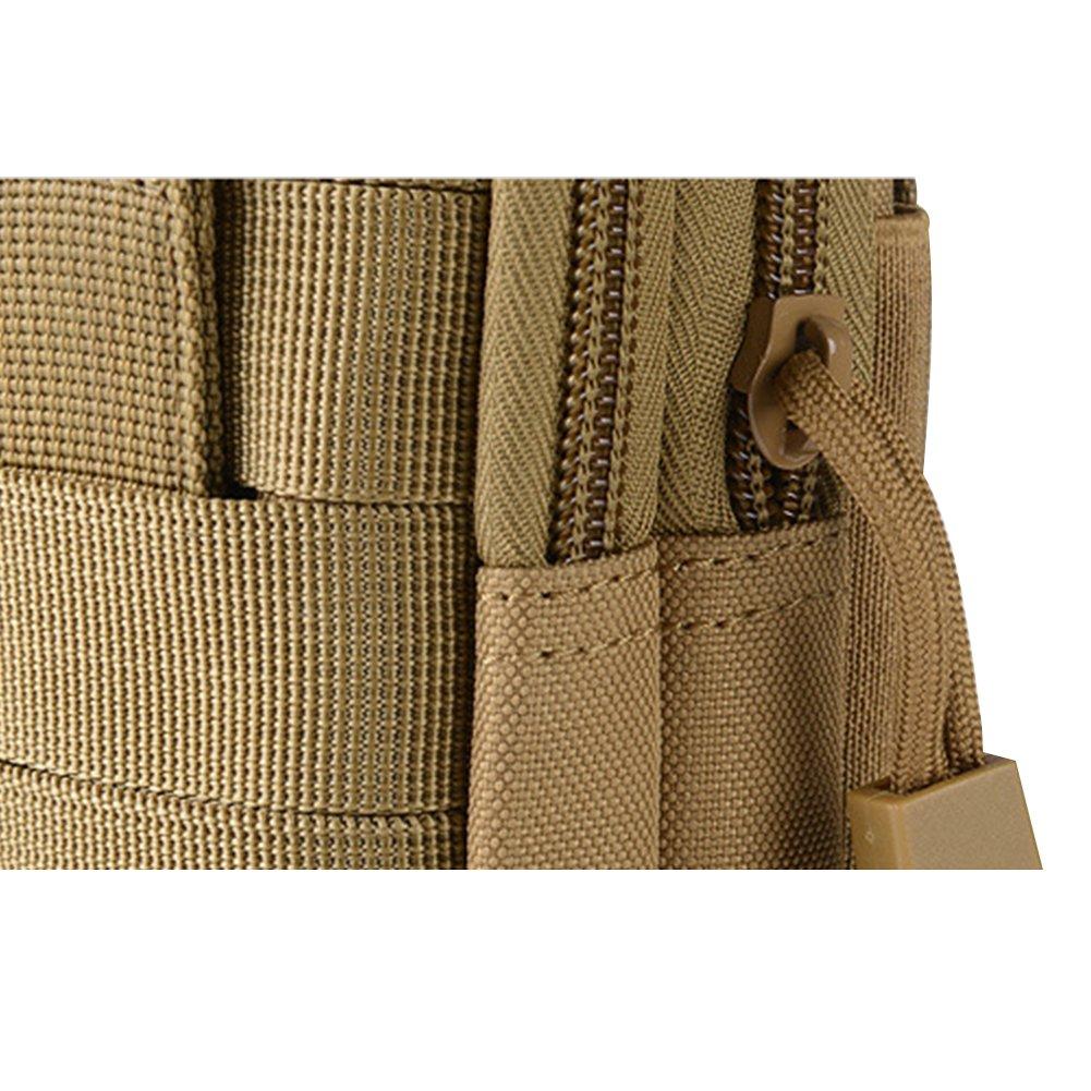 Black Outdoor Tactical Waist Belt Bag Camping Hiking Zip Pouch Wallet Phone Sport Fanny Pack