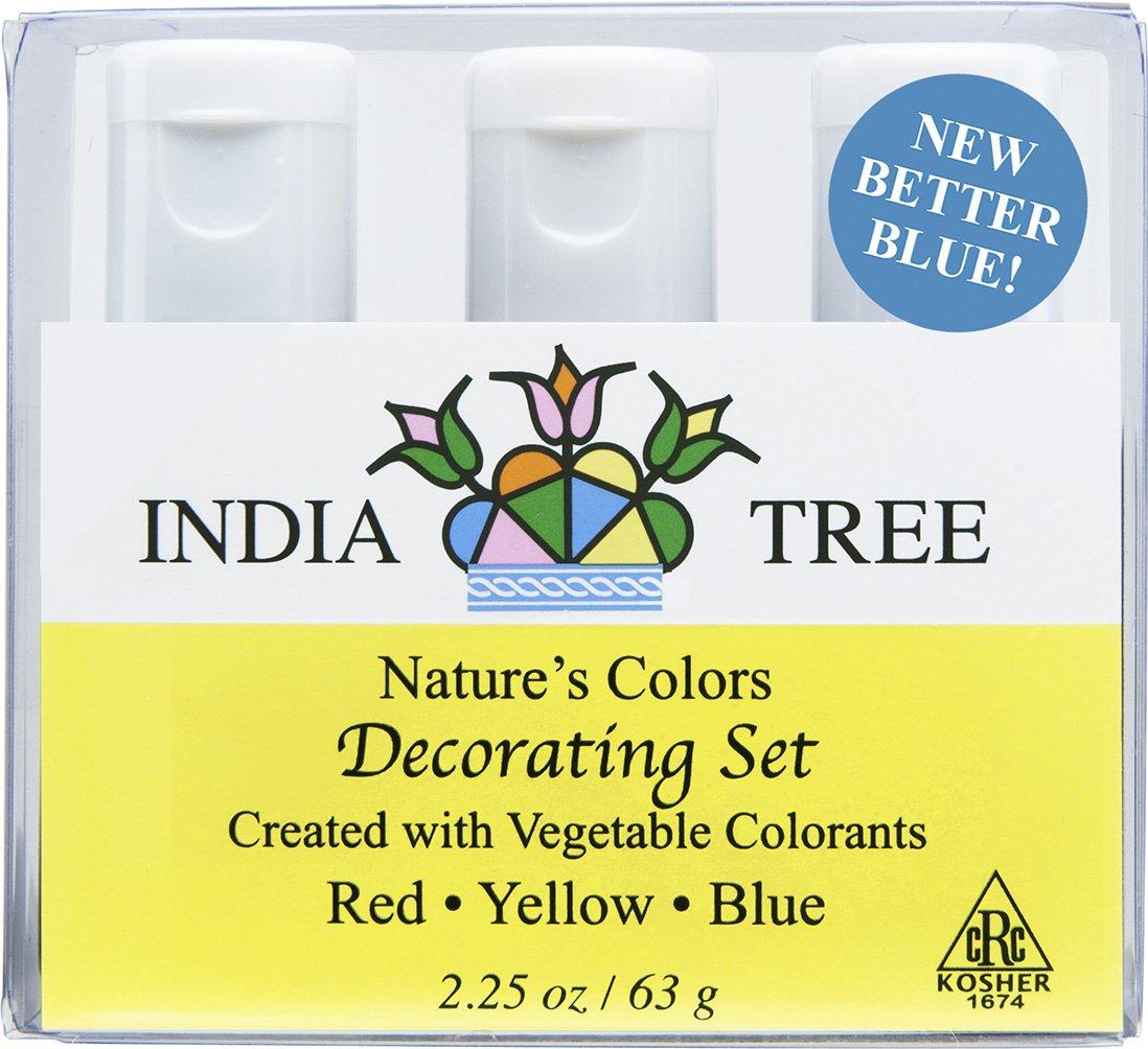 Amazon.com : India Tree Natural Decorating Colors Set, 3-Count ...