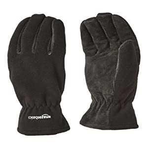 AmazonBasics Cold Proof Thermal Winter Work Gloves, Black, XXL