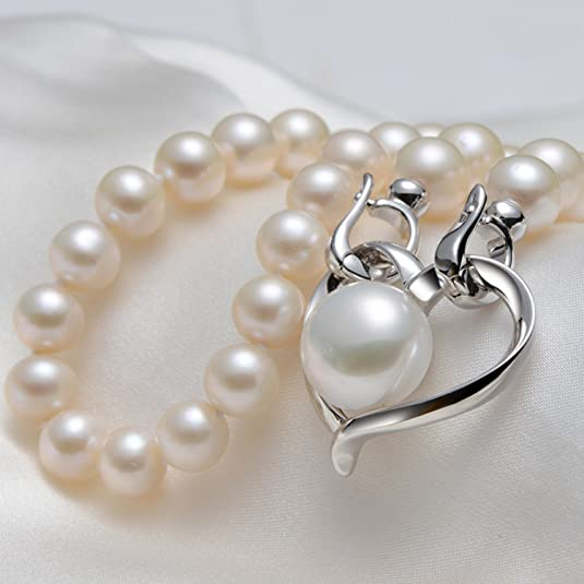 fa228e50b49d De Mujer Ley 925 Collar Epinki Perlas Corazón Plata c3uT15FlKJ