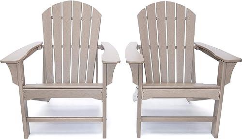 LuXeo LUX-1518-WWD2 Hampton Adirondack Chair