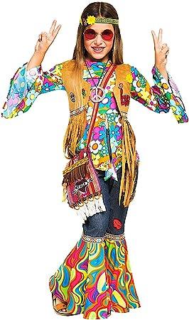 VENEZIANO Disfraz Hippy DE LA Muchacha Vestido Fiesta de Carnaval ...