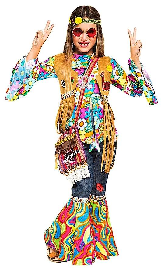official photos b441f 9526b Costume di Carnevale da Hippy Bimba Vestito per Bambina ...
