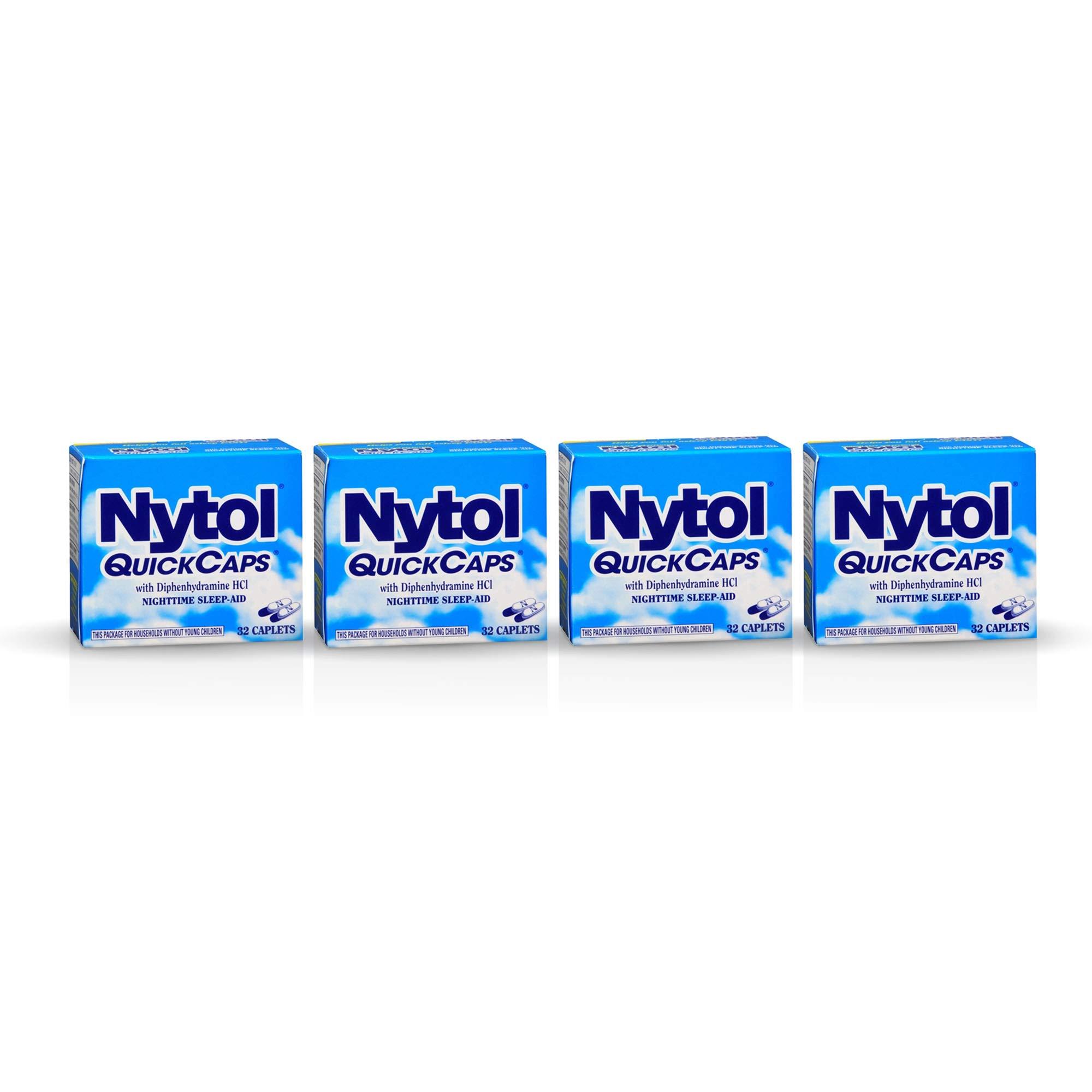 Nytol Sleep Aid Quick Caps-32 ct. (Quantity of 4)