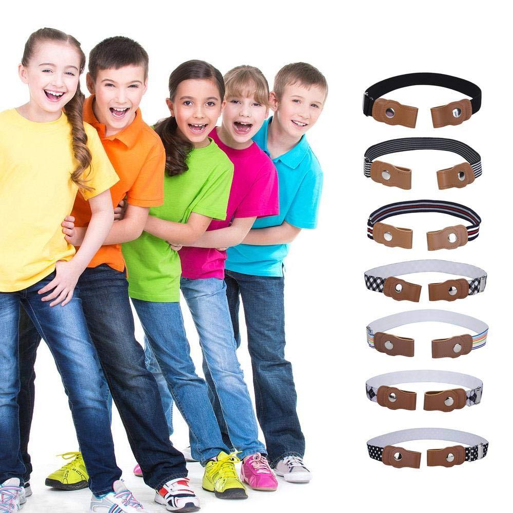 Womdee Cintura Senza Fibbia Regolabile per Bambini Cintura Elastica Senza Fibbia per Ragazzi E Ragazze 14.0~26.5in Cintura Invisibile per Bambini Regolabile Cintura Senza Fibbia per Bambini-05