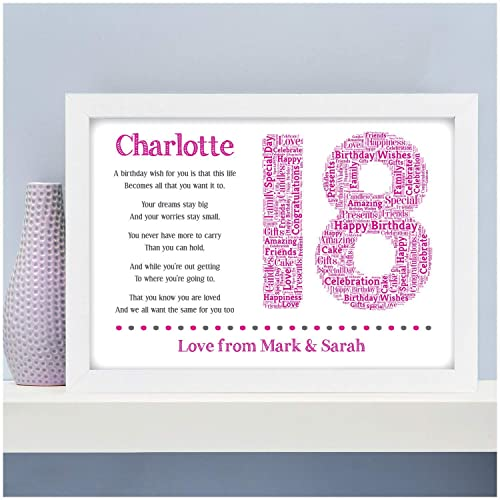 Personalised 13th 16th 18th 21st 30th 40th 50th 60th 70th Birthday Gifts For Her Him Girls Daughter Sister Son Boys Brother Mum Dad Grandparents Best