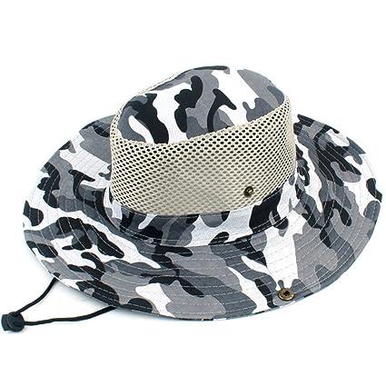 Quaanti Fisherman s Hat Sun Cap丨Breathable Mesh Sunshade Fishing Bucket Hat  Cap for Men   418371106