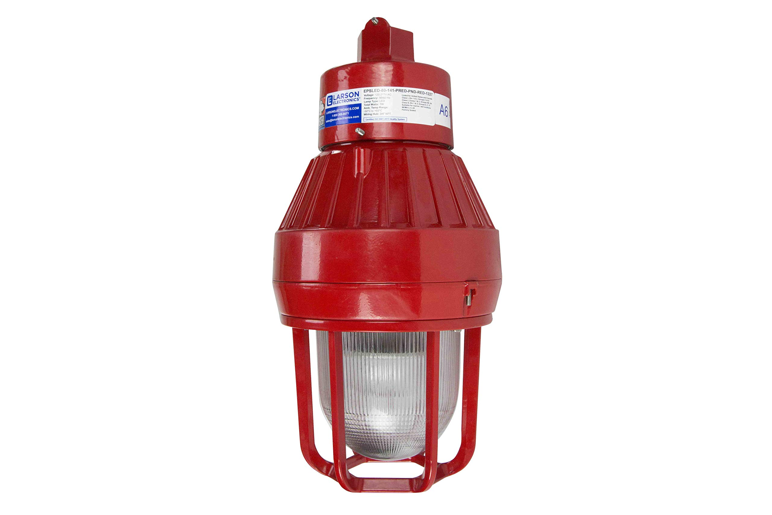Explosion Proof LED Strobe Light - Red Housing - 120-277V AC or Low Voltage - C1D1 - CSA Listed