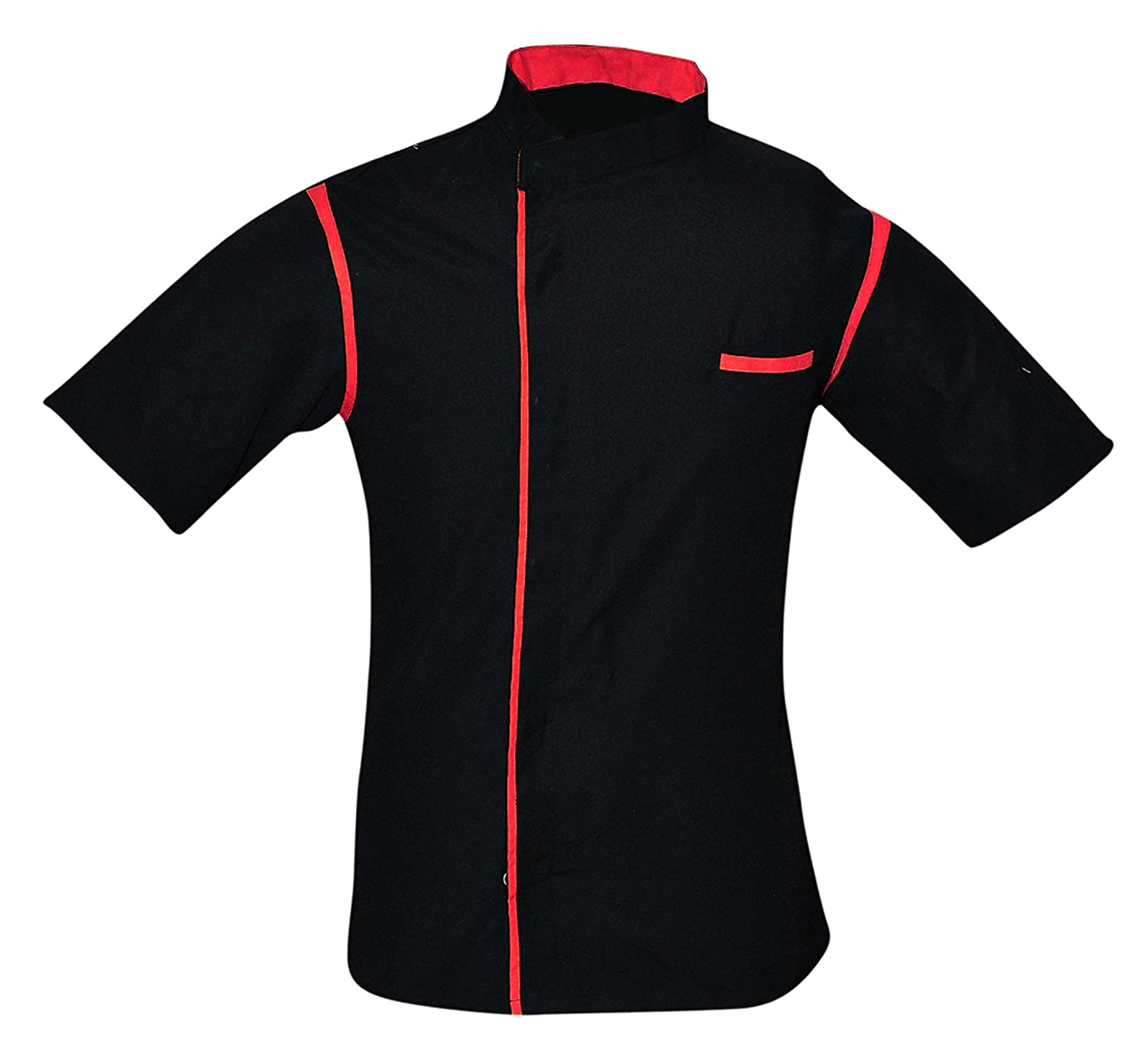 Size- XXS-5XL, Piping in Six Colours Leorenzo Creation HN-06 Mens Chef Coat Cancel Strip One