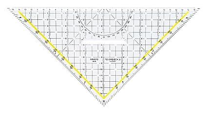 Aristo - Escuadra de dibujo técnico (plexiglás, hipotenusa de 325 mm), color