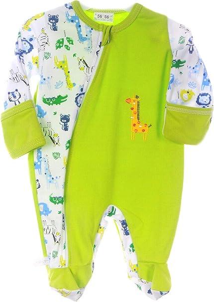 Strampler Baby Schlafanzug mit Reißverschluss Overall 50-104 Anzug Weiß Anker