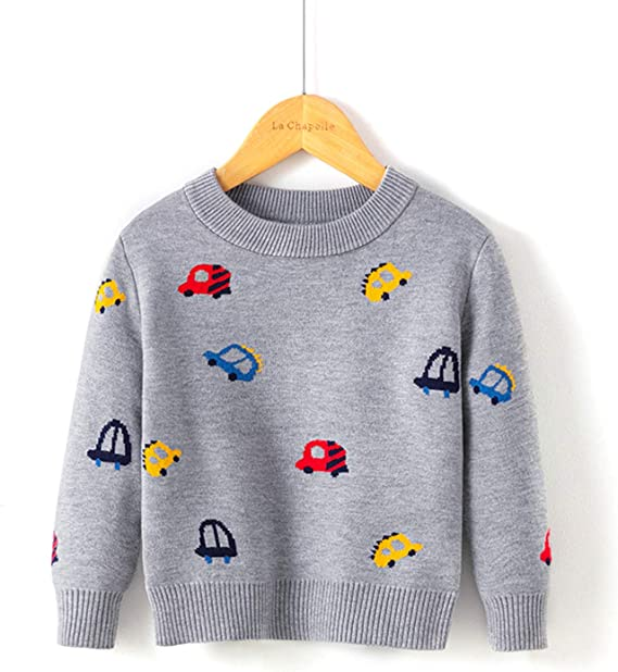 Moonnut Baby Boys Girls Christmas Pullover Sweater Soft Winter Tops Knitwear Xmas Gift for Kids 5T Red