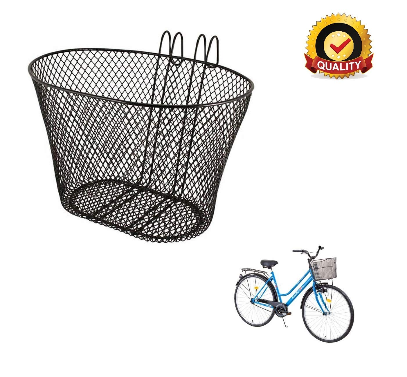 Ducomi® Panier Vélo Avant pour Adultes, Enfants et Chien pour Guidon - 31 x  19 x 18,5 cm - Panier Universel en Métal Anti-Rouille - Idéal pour Vélo ... 24bad53c5f0