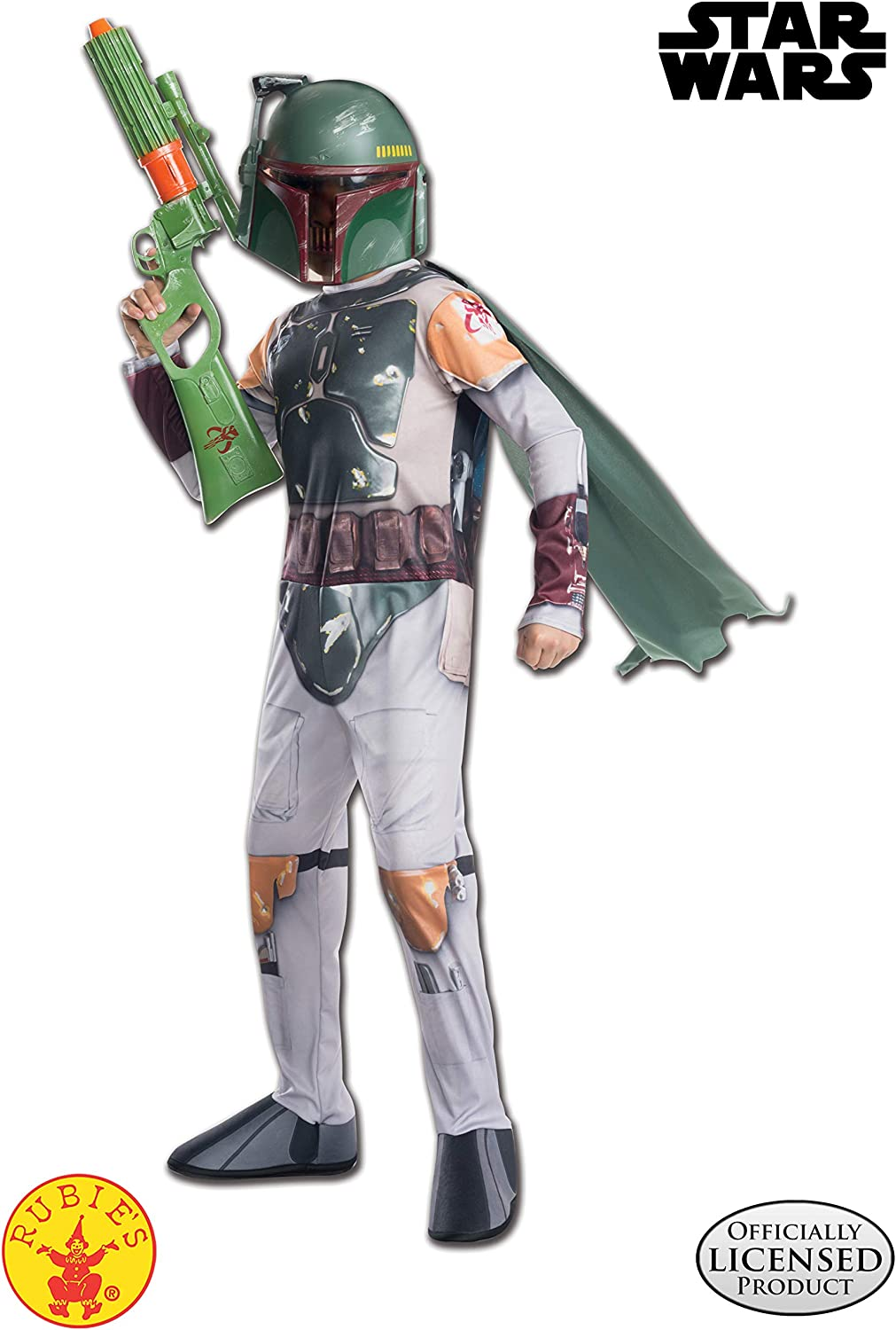 Boys Child STAR WARS Deluxe Boba Fett Costume Outfit