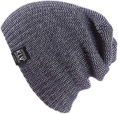 Unisex Warm Winter Baggy Beanie Knit Crochet Oversized Hat Slouch Cap  Women Men