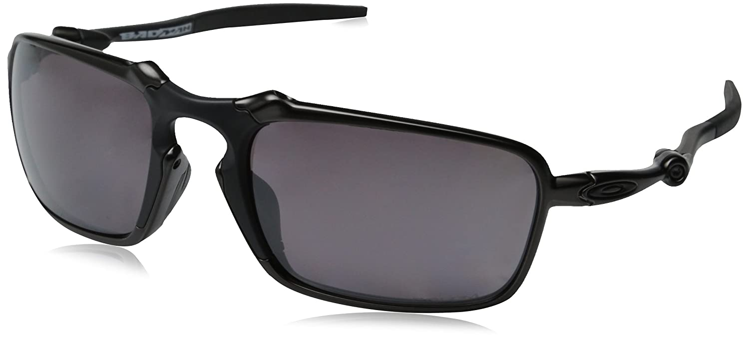 1e1bc805a11c Amazon.com: Oakley Men's Badman OO6020-06 Polarized Rectangular Sunglasses,  Dark Carbon, 60 mm: Oakley: Clothing