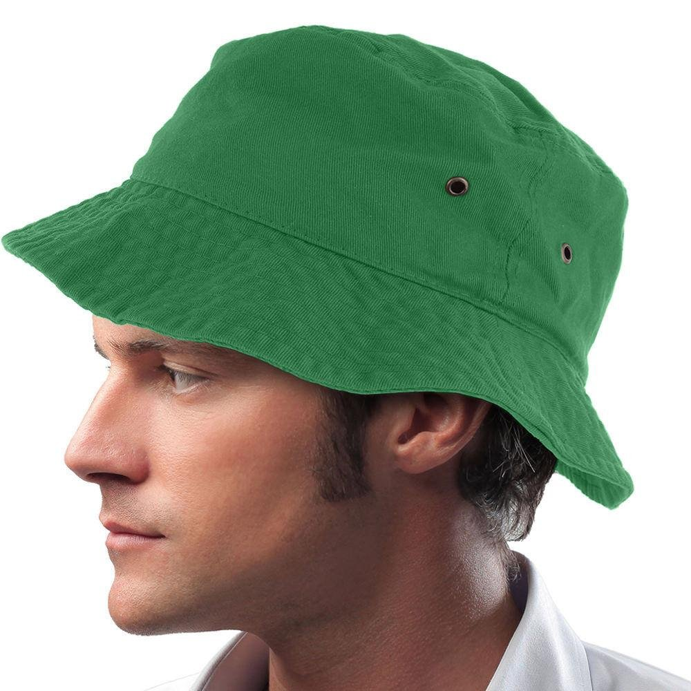 Easy-W Green 100% Cotton Hat Cap Bucket Boonie Unisex by Easy-W