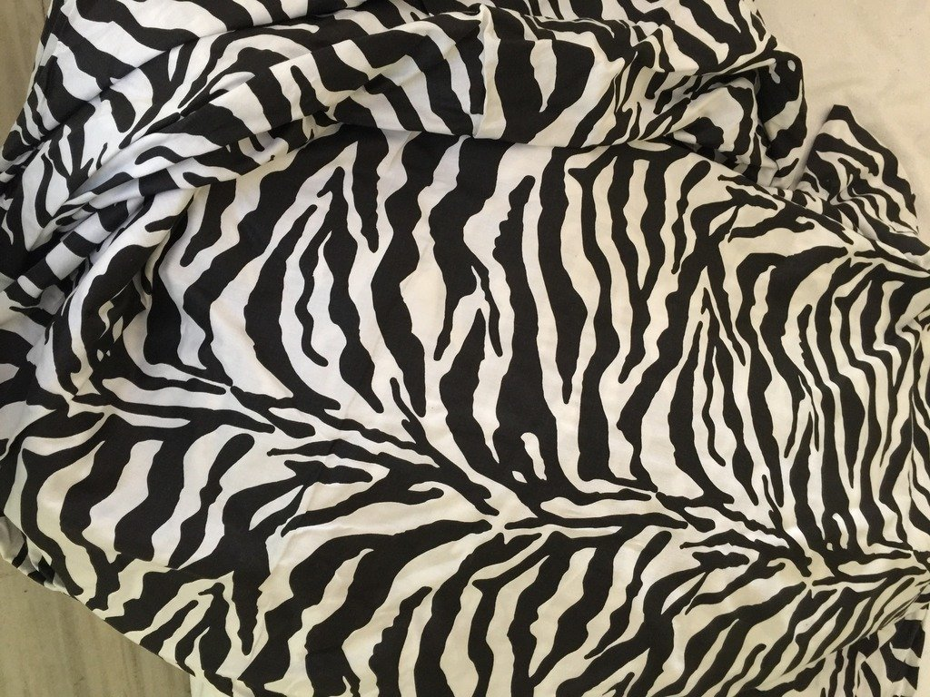 Nile Bedding Collection Animal Print Bed Sheets Set Egyptian Cotton 600 Thread Count Sateen 5 PCs Sheets -Fitted Sheet Fit up to 29 Deep Pocket Zebra Print Adjustable Split-King Size.