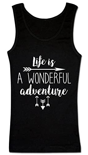 Life Is A Wonderful Adventure Camiseta sin mangas para mujer