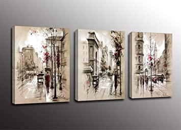 Amazon.com: Formarkor Art Kx1703 Paris Street Modern Giclee Print ...