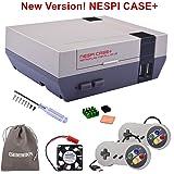 New Version! Retroflag NESPi Case+ Plus with USB Wired Game Controllers & Cooling Fan & Heatsinks for RetroPie Raspberry Pi 3/2 Model B & Raspberry Pi 3B+