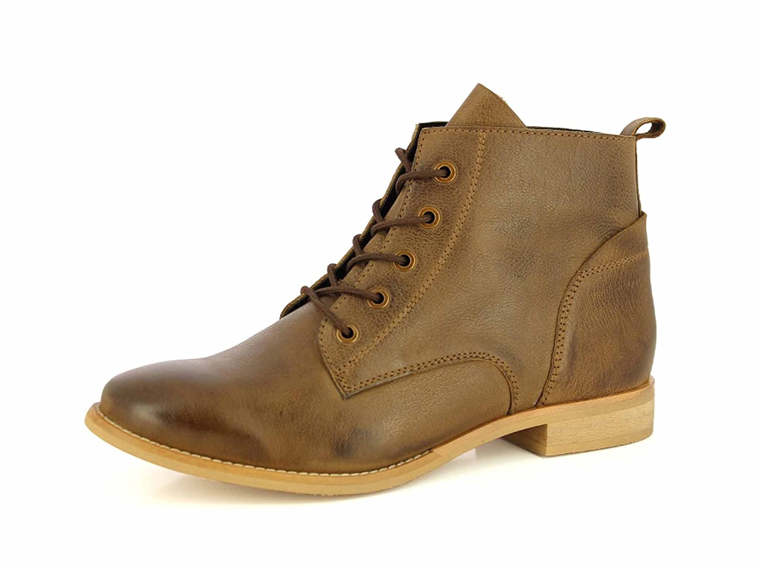 ALBERTO TORRESI Leather Ankle Boots For Women Lace Up Casual Durbey Shoes Combat Boots Booties B07425NLQR 9 B(M) US|Taupe