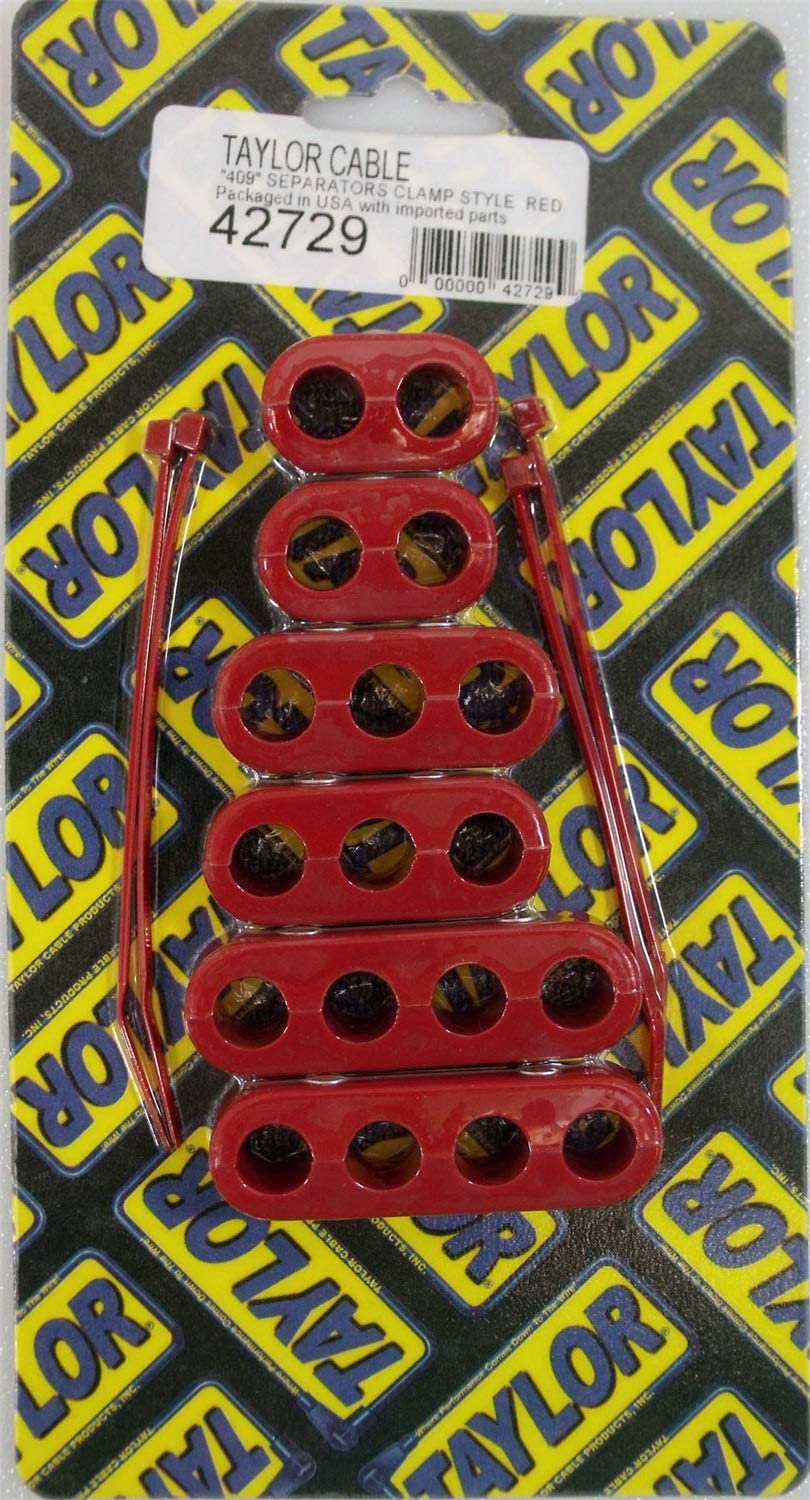 Taylor Spark Plug Wire Holder 42720; 8mm Clamp on Wire/'s Red Nylon