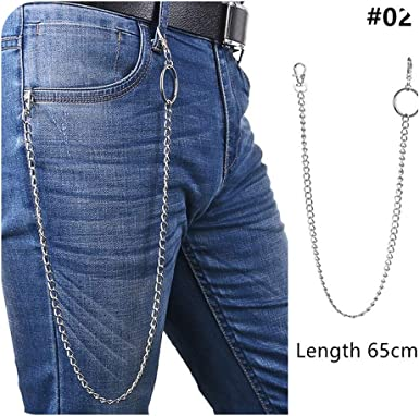 Big Ring Rock Hip Hop Jewelry Pants KeyChain Wallet Chain Belt Key Chains Clip