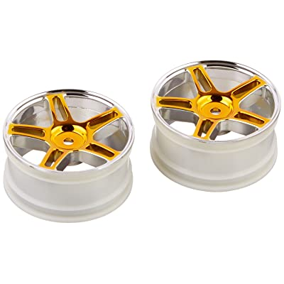 Redcat Racing Orange Chrome 5 Spoke Split Wheels (2 Piece): Toys & Games