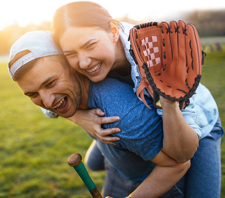 Gant /à Gauche Wonninek Gant de Baseball Gants de frappeur de Sport avec Cuir PU de Baseball R/églable et Confortable 10,5 Pouces 11,5 Pouces 12,5 Pouces Lancer /à Droite