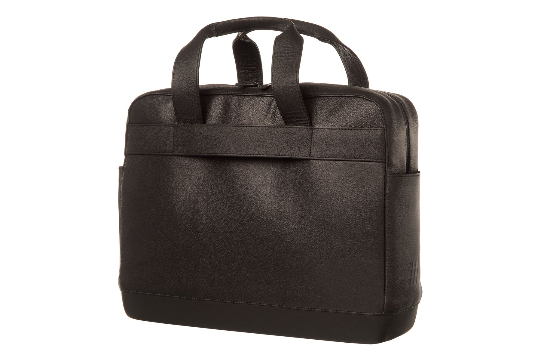 Moleskine Classic Leather Utility Bag, Black, For Work, School, Travel, and Everyday Use, Space for Tablet Laptop and Chargers, Notebook Planner or Organizer, Padded Adjustable Straps, Secure Zipper by Moleskine (Image #2)
