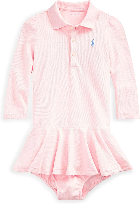 NWT Ralph Lauren Polo Baby Girls Floral Print Dress Long Sleeve Set