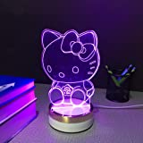 E-Global Hello kitty 3D Night Lights Colorful Changing LED Lamp for Children Home Decor Customized Birthday Gift