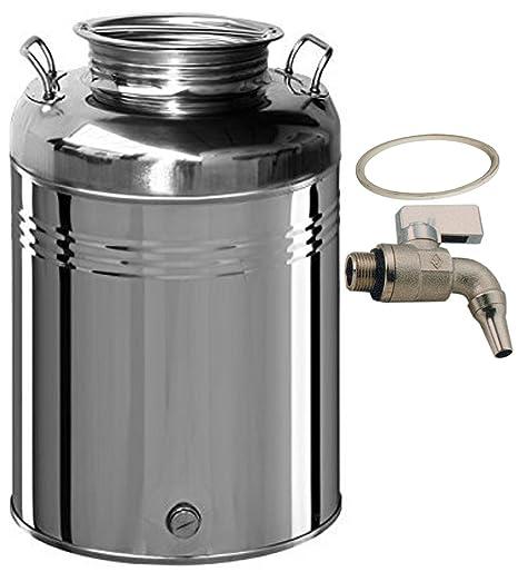 Belvivere - Bidón/Cubo para Aceite 50 litros, acero ...