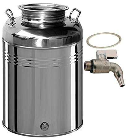 Belvivere - Bidón/Cubo para aceite de 30 litros, acero ...