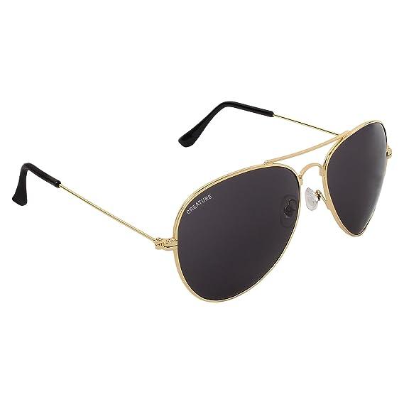 2a36dad0da Creature Black Aviator Uv Protected Unisex Sunglasses (Lens-Black ...