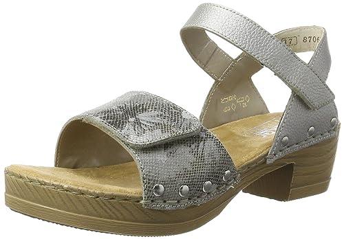 d96121ff25c0a4 Rieker Damen V6863 Offene Sandalen mit Keilabsatz  Amazon.de  Schuhe ...