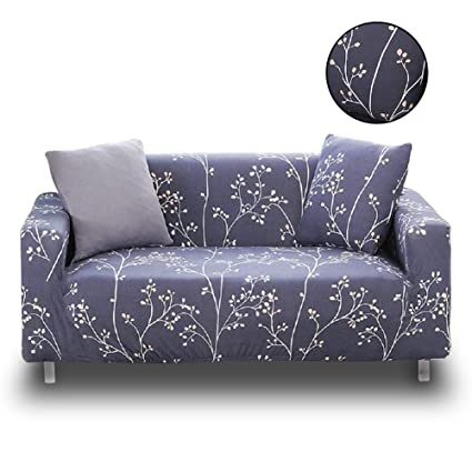 HOTNIU Stretch Sofa Loveseat Cover Pattern Arm Chair Couch Slipcover for 1  2 3 4 Seat Armchairs/Loveseats/Sofas/Sectional Couches (4 Seater Sofa 88\