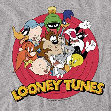 Details about  /Looney Tunes Smaller Group Juniors V-Neck T-Shirt