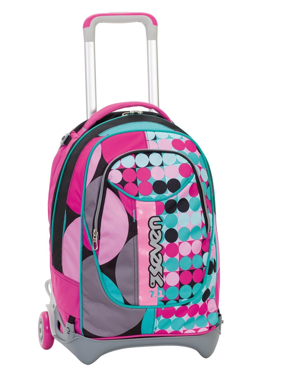 354d4b8566 Wheeled SEVEN NEW JACK - LOUD - Rose Violet Blue - 35 LT removable and  washable Backpack + Trolley - School travel: Amazon.co.uk: Baby